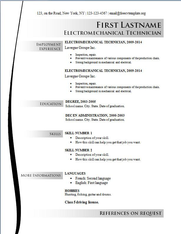Using Free Resume Templates - Dadakan