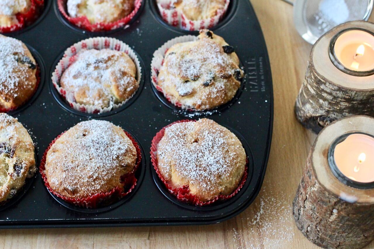 Christstollen-Muffins