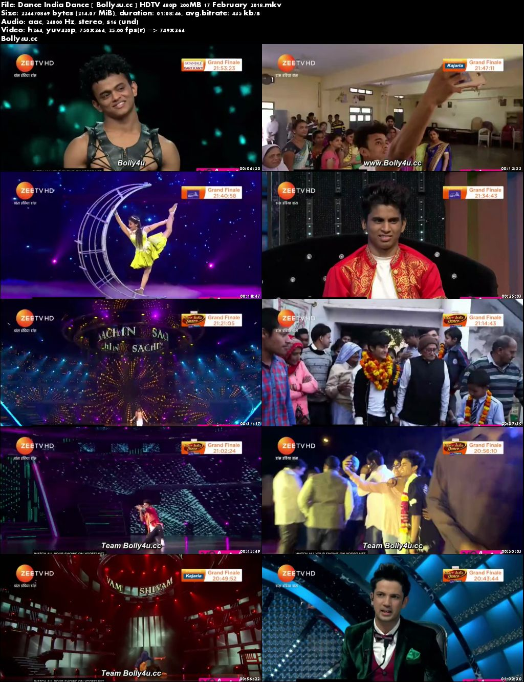 Dance India Dance HDTV 480p 200MB 17 February 2018 Download