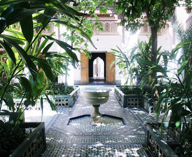 Palace gardens, Marrakech, Morocco