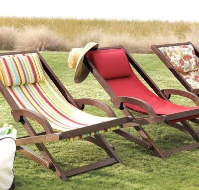 beach chairs Pottery Barn