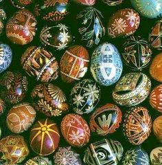 dark colorful easter eggs decoration s