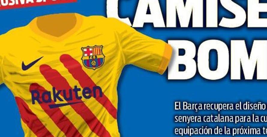 0f97b1045 LEAKED  FC Barcelona 19-20 Senyera Fourth Kit