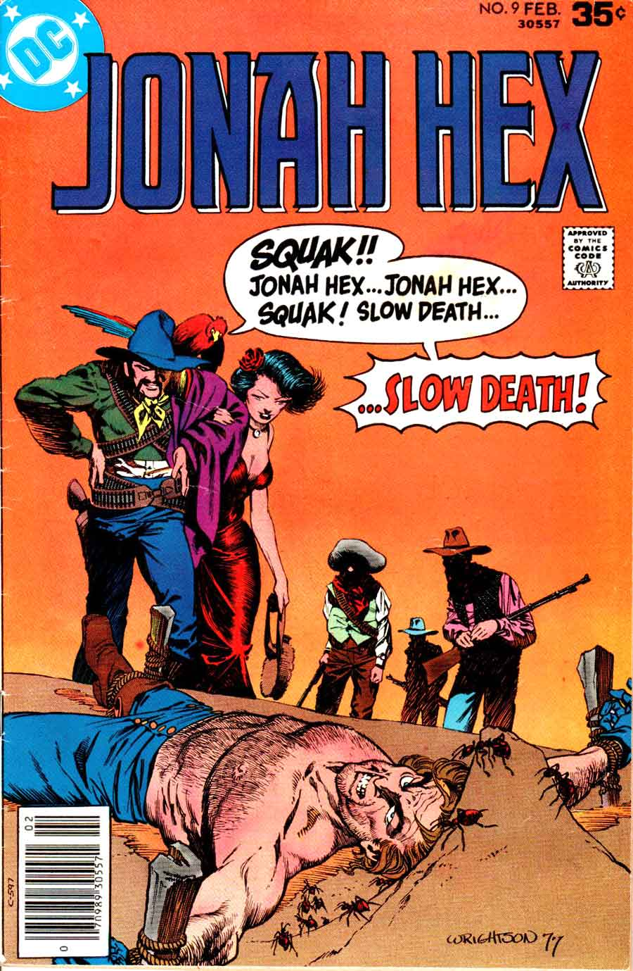 Jonah Hex v1 #9 dc western comic book cover art by Bernie Wrightson