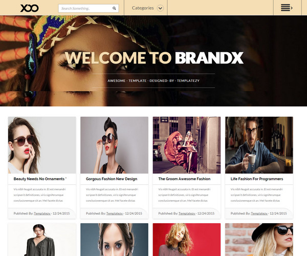 Brandx Template blogspot