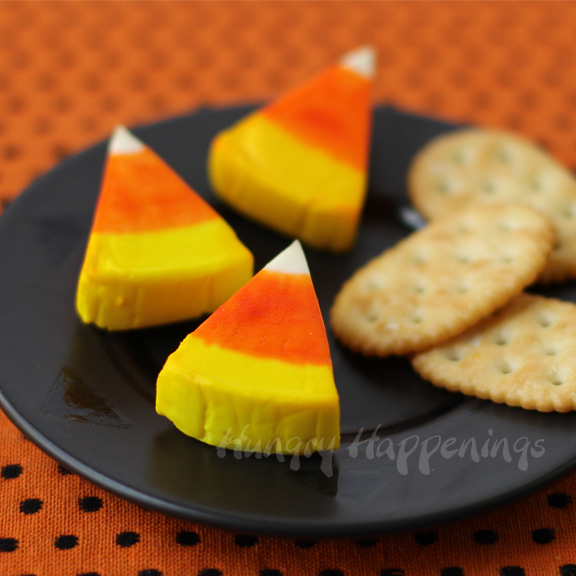 Laughing Cow Candy Corn #healthy #halloweensnackideas