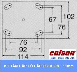 kích thước Khóa chân xe đẩy hàng Colson Mỹ chiều cao khi khóa 197mm | 6045x6