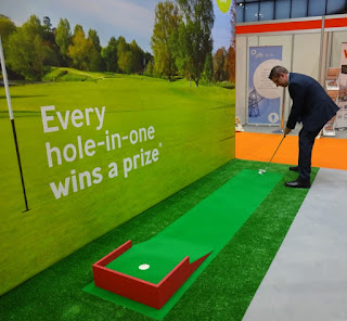 The Trade On Tap Hole-in-One challenge at the CIH Housing 2016 Exhibition