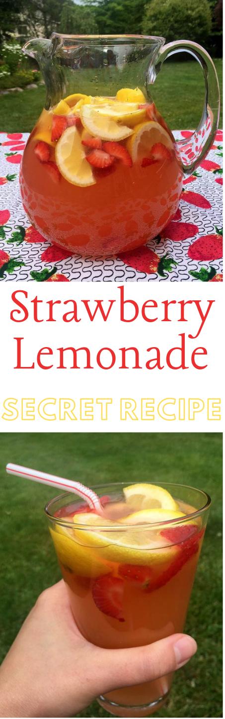 Homemade Strawberry Lemonade #lemonade #drink
