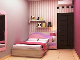 Desain Kamar Tidur Anak Perempuan Kecil Sederhana