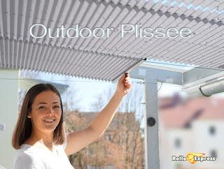 Outdoor Plissee für den überdachten Außenbereich