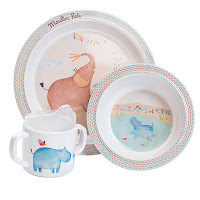 joli set vaisselle idee cadeau bapteme noel anniversaire bébé 12 mois 1 an