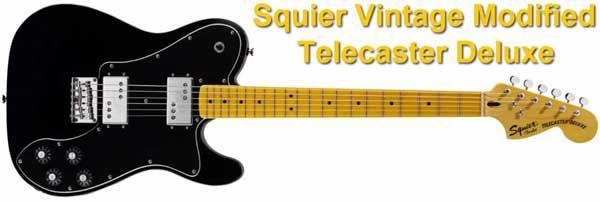 Squier Vintage Modified Telecaster Deluxe con dos Pastillas Wide Range