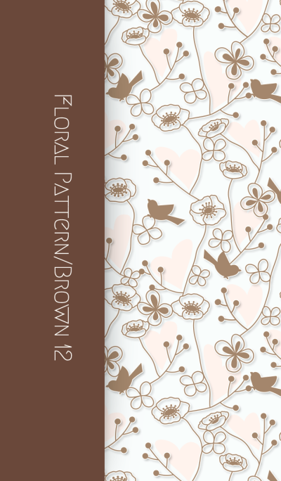 Floral Pattern[Poppy]/Brown 12