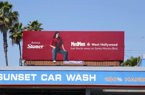 Forget stoner Activist MedMen Weho billboard