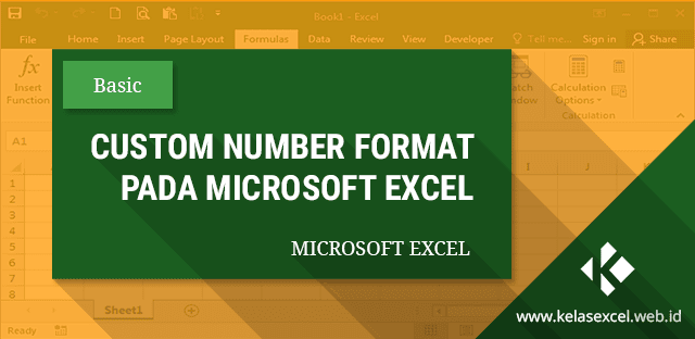 Custom Number Format Pada Excel