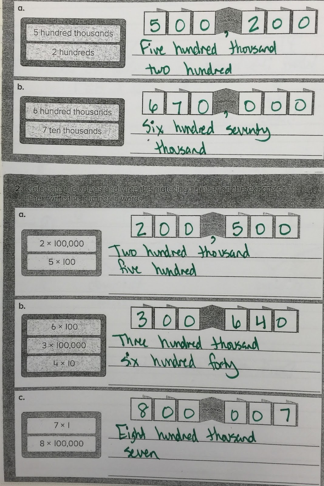 The 4th Grade May-niacs: Place Value, Expanded Form, and Number Line