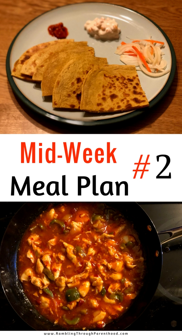 This is what Mid-Week Meal Plan #2 looks like. I may not stick to it fastidiously, but it will help me plan my grocery shop. And it will most certainly help with the ultimate aim of cooking more, wasting less and saving money in the process.