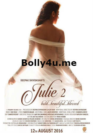 Julie 2 2017 DVDScr 350MB Full Hindi Movie Download 480p Watch Online Free bolly4u