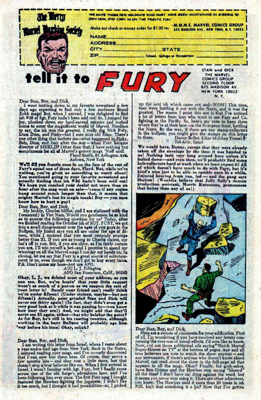 Read online Sgt. Fury comic -  Issue #40 - 32
