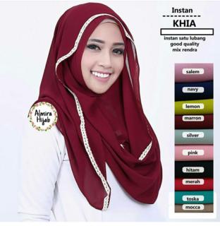 Jilbab Instan KHIA Terbaru harga Paling Murah