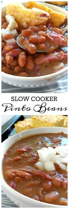 SLOW COOKER PINTO BEANS RECIPES