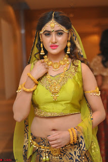 Sony Charishta in Green Choli Ghagra Transparent Chunni Ethnic Wear March 2017 078.JPG