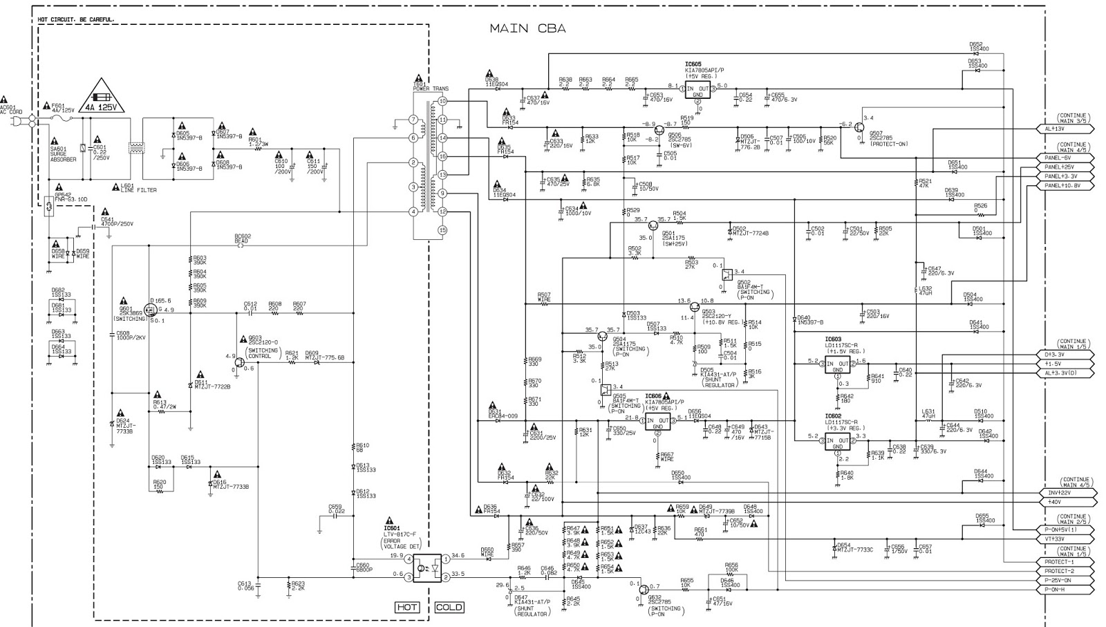 EMERSON EWL20S5  LCD TV  BACKLIGHT INVERTER  POWER  SCHEMATIC DIAGRAMS {Click on images to
