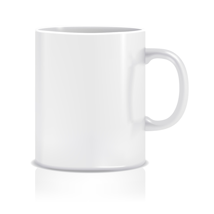 Photo Real White Cup