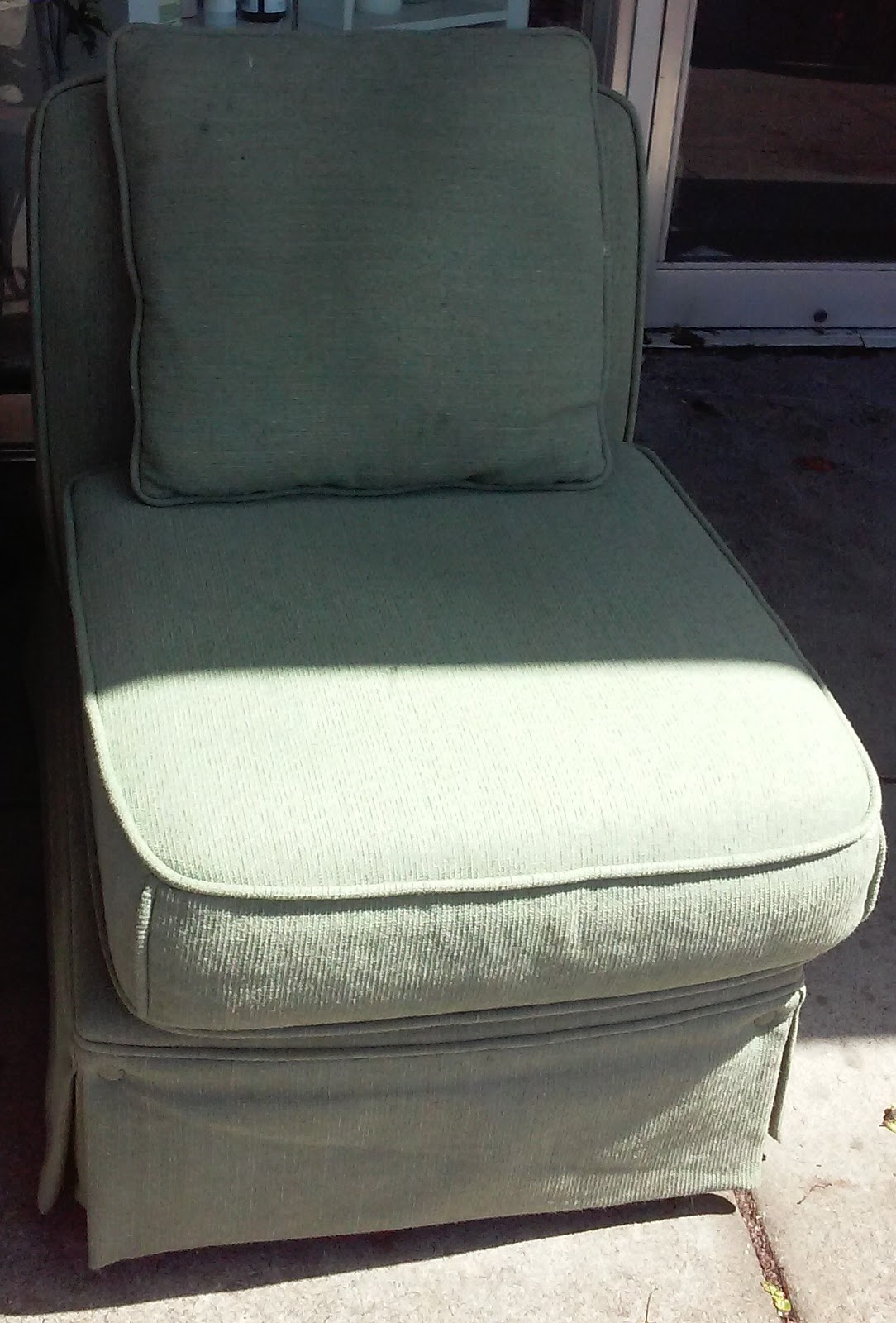 UHURU FURNITURE & COLLECTIBLES: SOLD Armless Peppermint ...