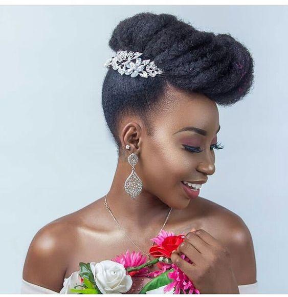 Make Your Wedding Unique Natural Hair Brides Styles Petrida Fashion