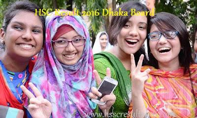 HSC Result 2016 Dhaka Board on educationboardresults.gov.bd