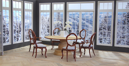 Dining Room: Winter View