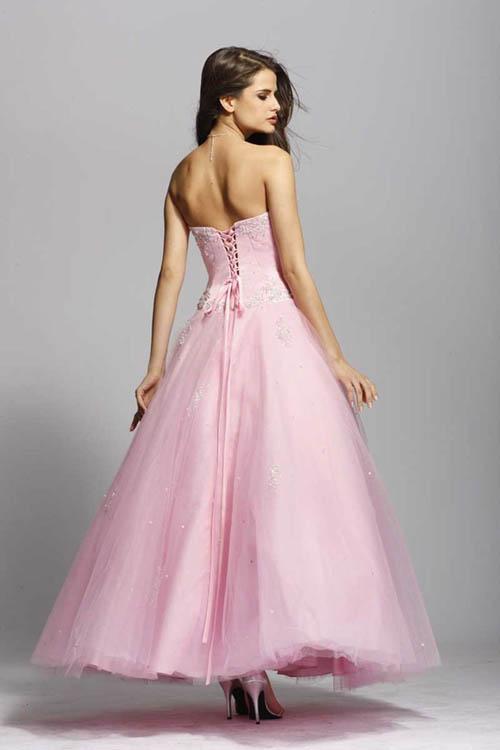 A Wedding Addict: Light Pink Wedding Dress in Modest Style