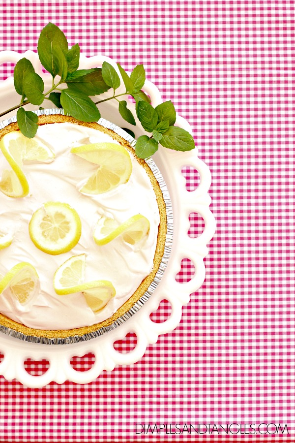 icebox pie, chilled dessert recipe, pink lemonade pie