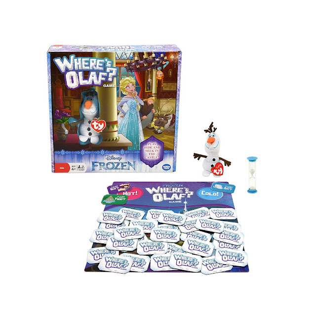 Disney Frozen Where's Olaf? game pieces.