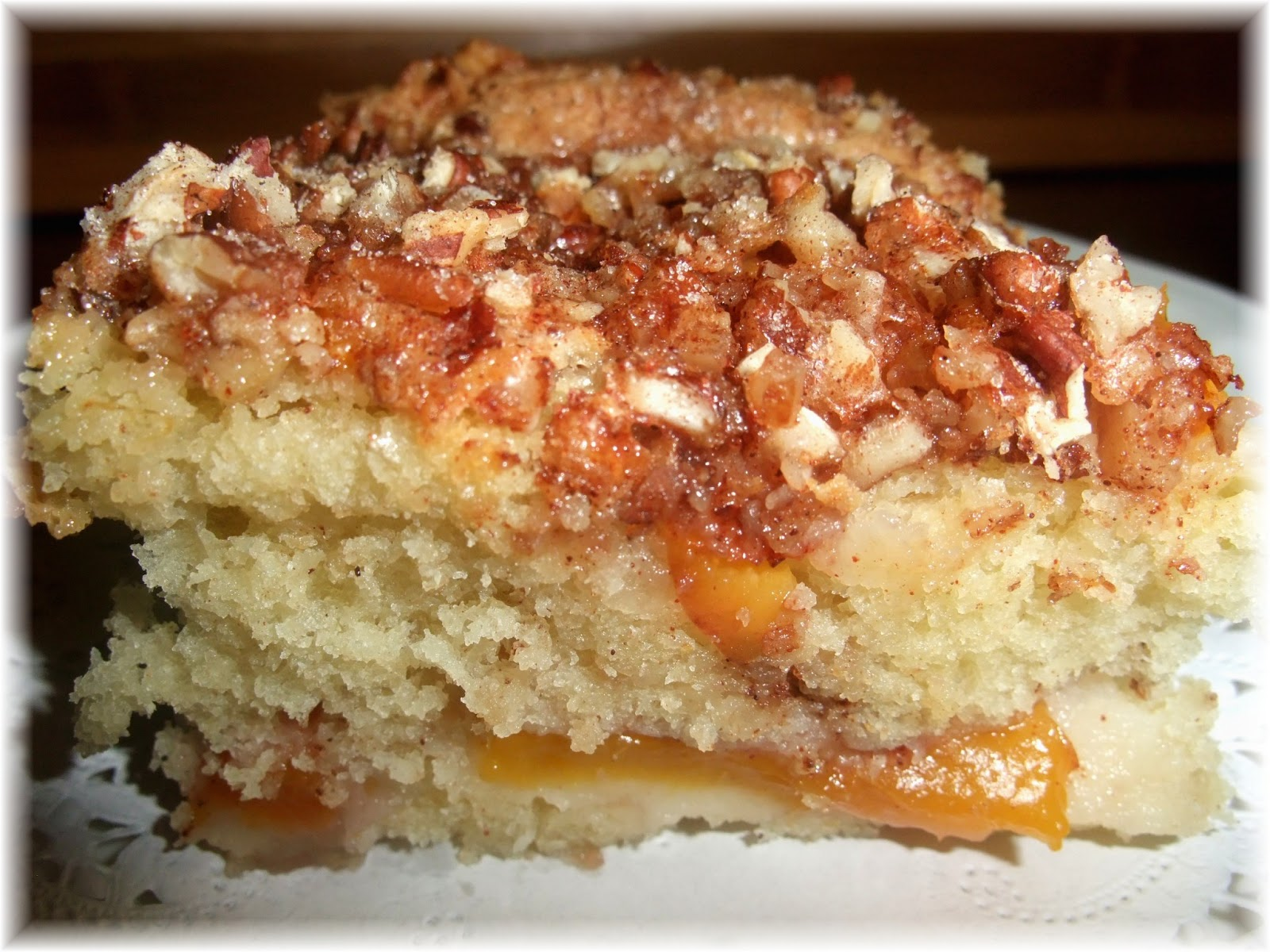 Fruit Coffee Cake Made With Cake Mix