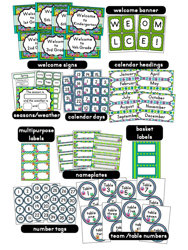Kindergarten Classroom Decoration Printables : Monster themed classrooms clutter free classroom