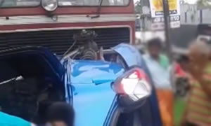 Kalaniwali Rail Bus Accident