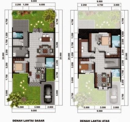 desain rumah minimalis type 54
