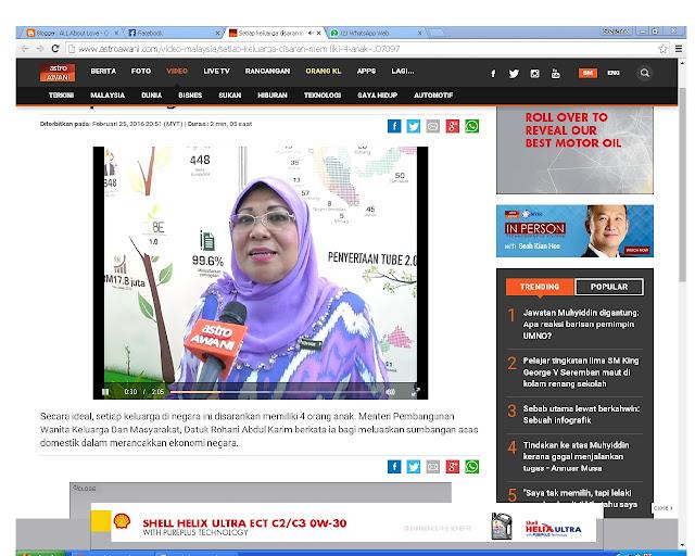 Setiap keluarga di Malaysia disaran memiliki 4 anak