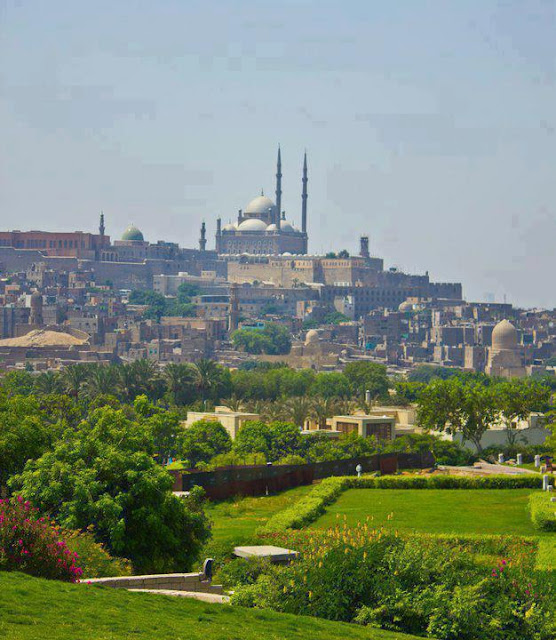 Egypt Mosque, The Al-Azhar park in Muhammad Ali Mosque, Egypt most popular places to visit