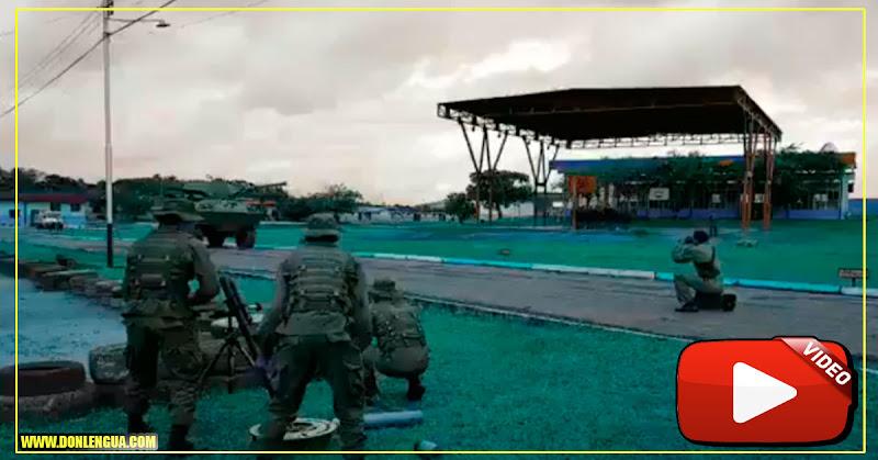 Militares del régimen quedaron heridos haciendo una práctica de guerra