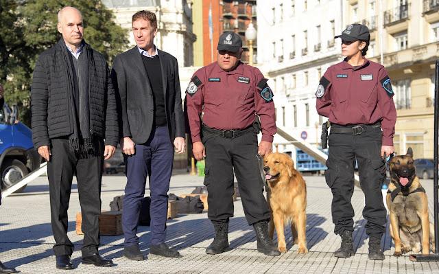 Horacio Rodríguez Larreta presentó la Patrulla Canina de la Policía de la Ciudad