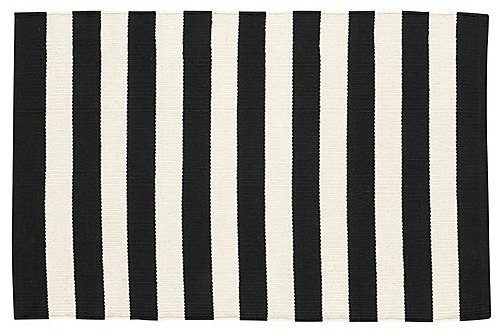 Black and ivory rug