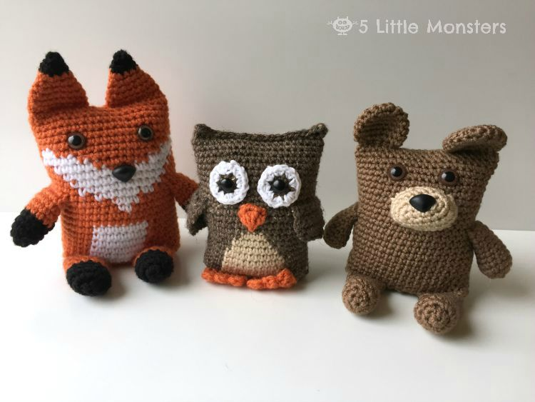 Amigurumi Free Patterns Bear : 5 little monsters: boxy bear