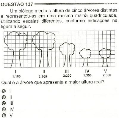Exercício Resolvido Enem 2012 - Questão 137 (caderno amarelo - 2º dia)