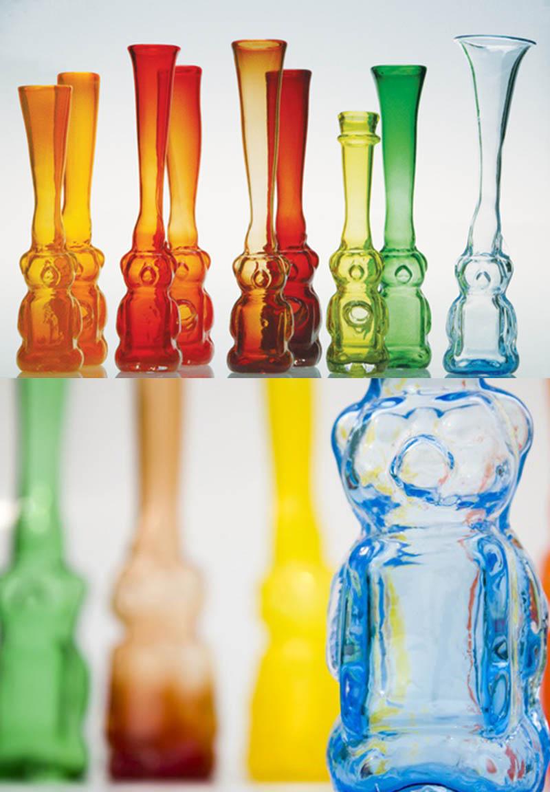 Honeybear Glass Vases By Esque Studio