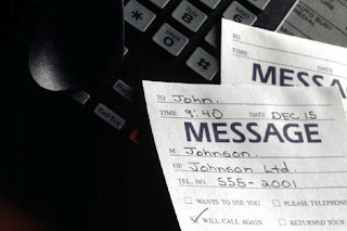 Leave a message when you get someone's voice mail
