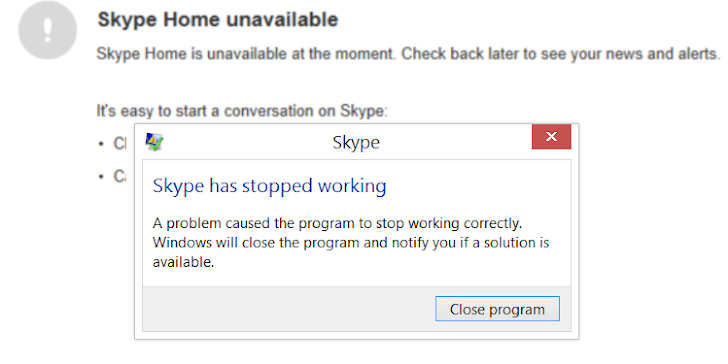 This Simple Message Can Crash Skype Badly and Forces Re-Installation